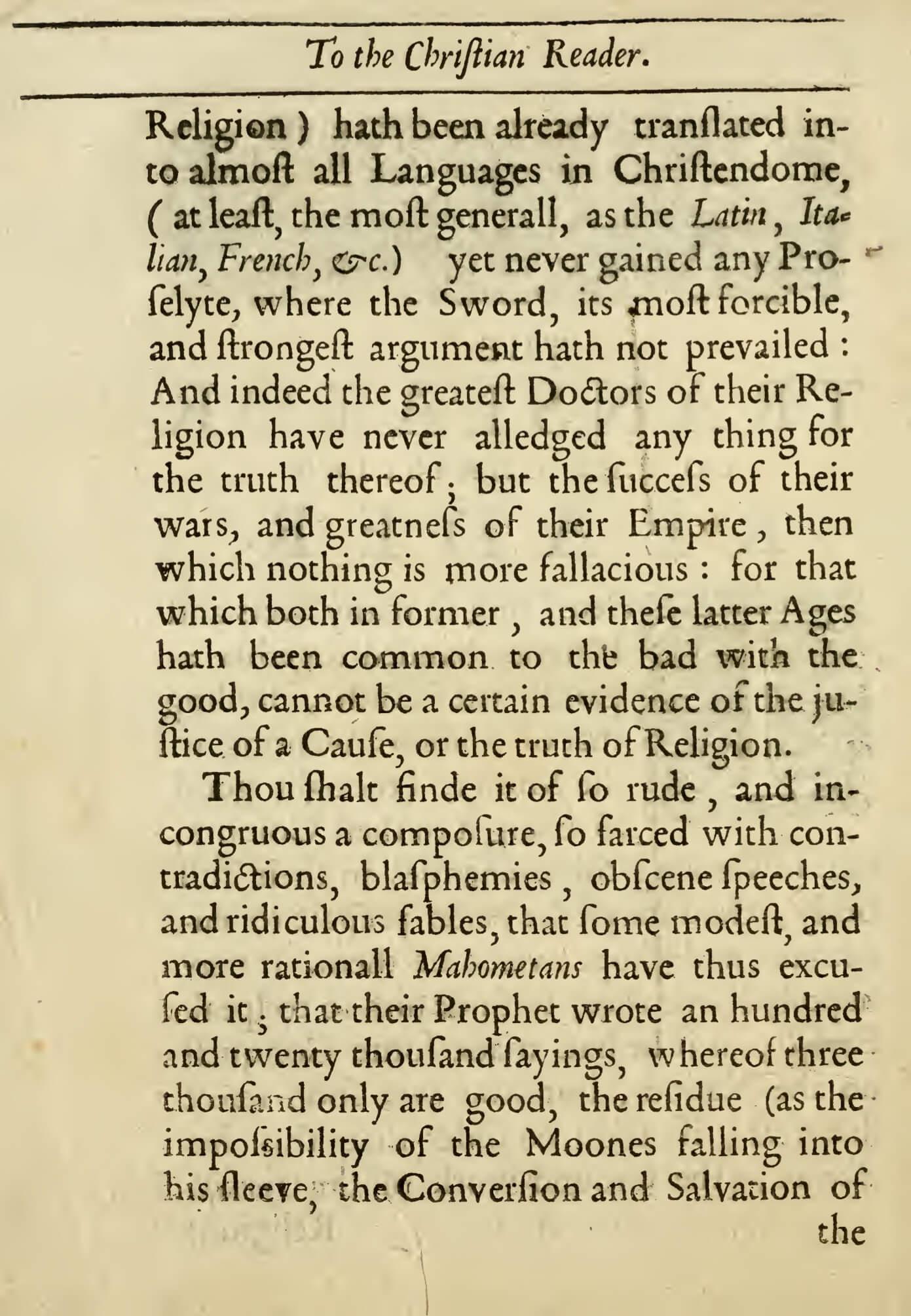 Alexander Ross 1649 Quran Explorer, Page 3