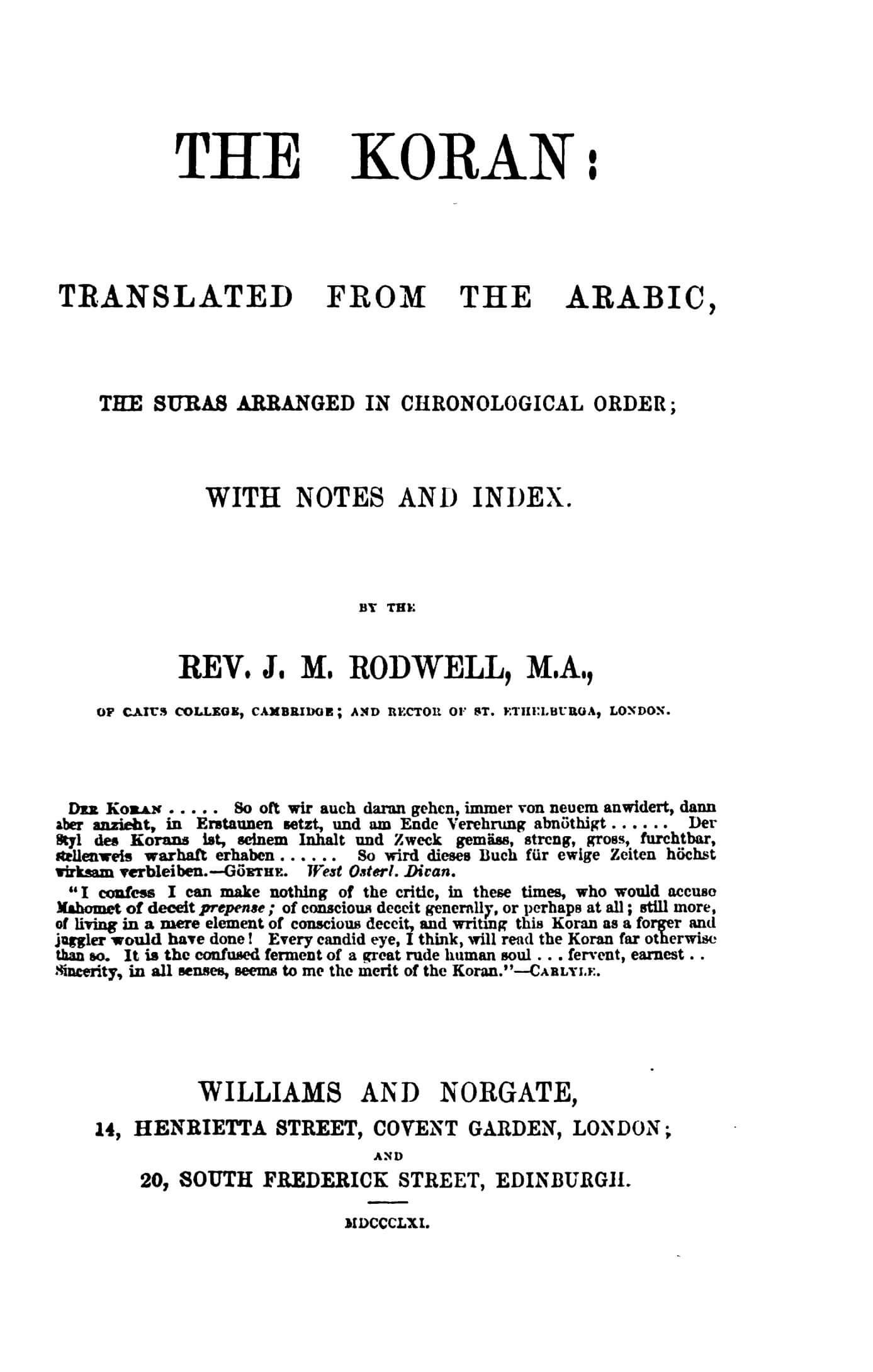 John Rodwell 1861 Quran Explorer, Page 2