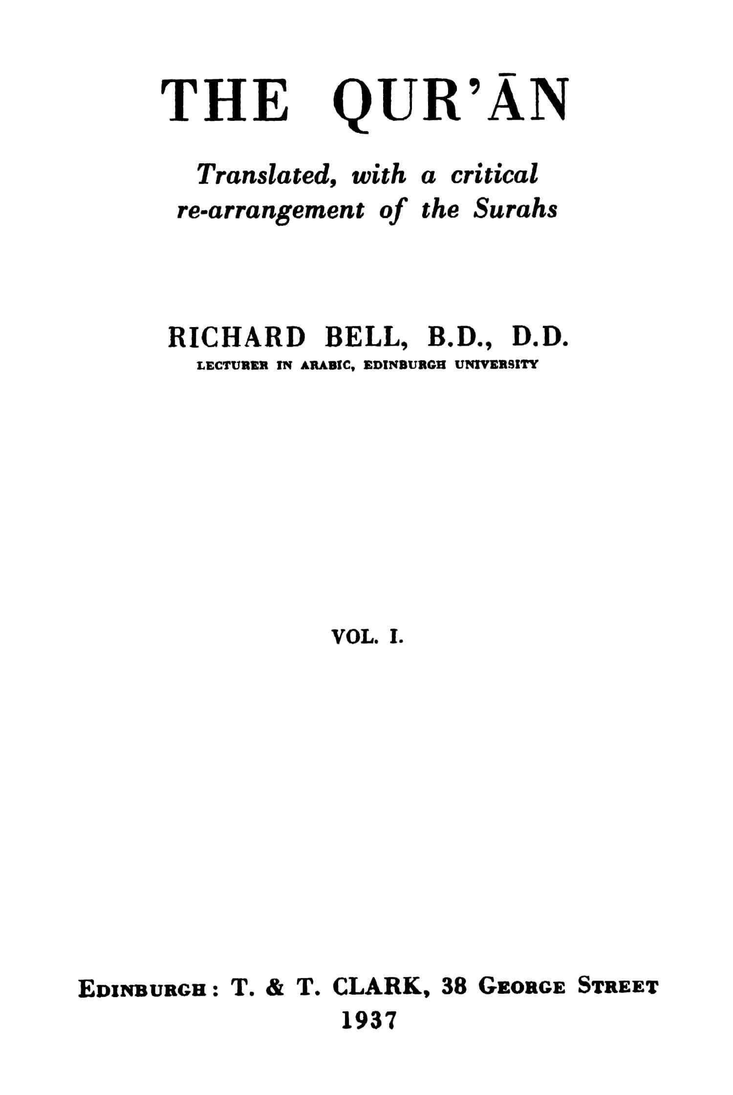 Richard Bell 1939 Quran Explorer, Page 2