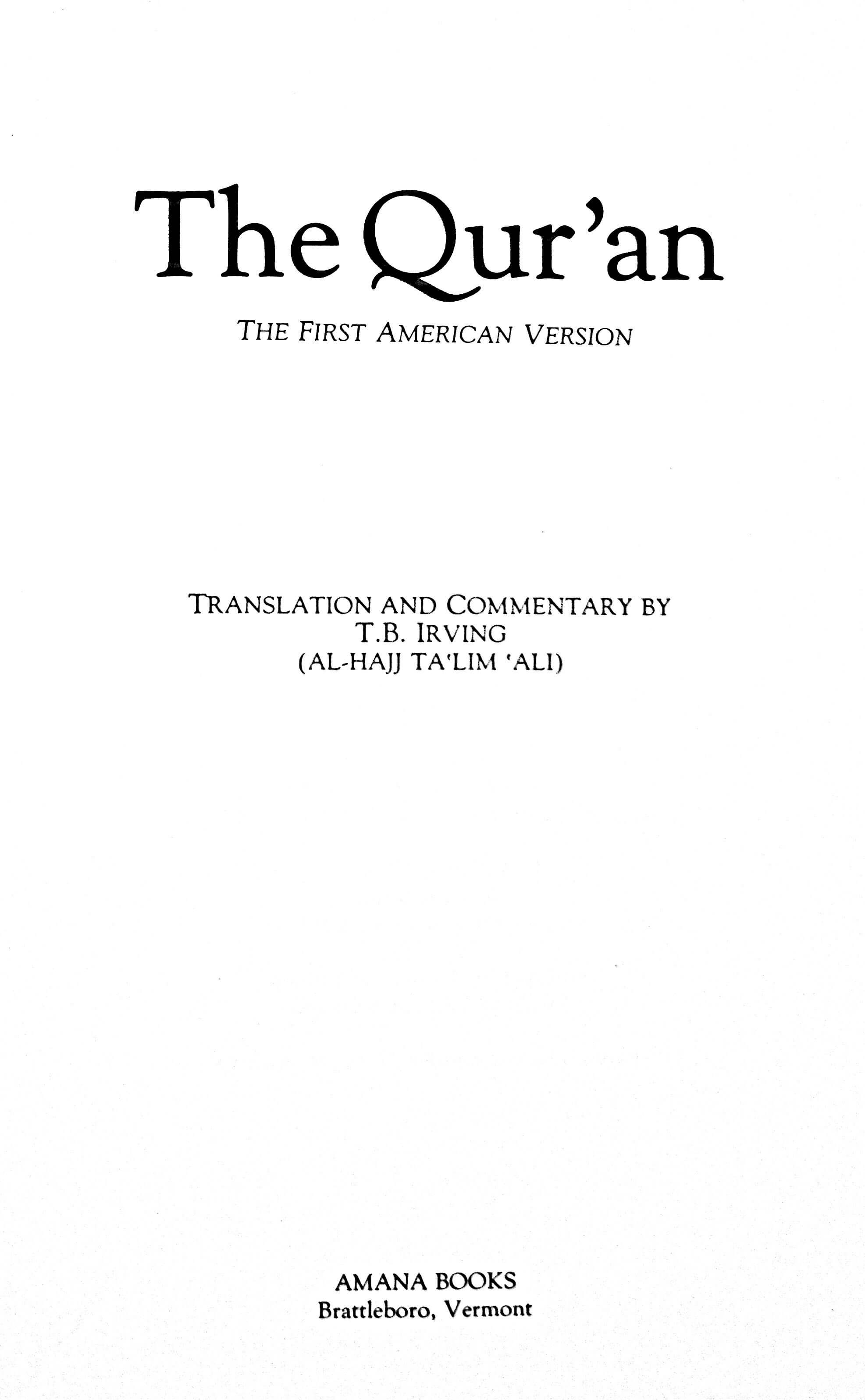 Thomas Ballantyne Irving 1985 Quran Explorer, Page 3